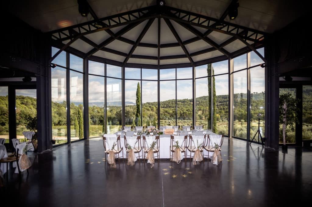 Mariage centre de table, vue panoramique