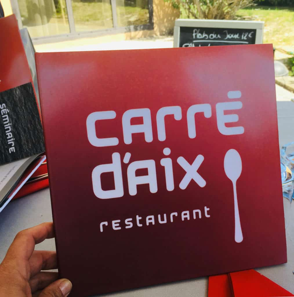 Carte du restaurant Carré d'Aix